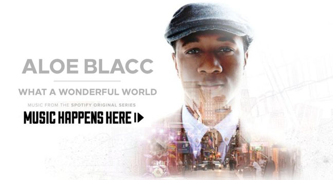 Νέα Διασκευή & Flashback   Aloe Blacc – What A Wonderful World