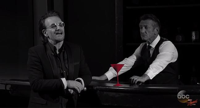 News | Bono, Chris Martin και Sean Penn μαζί, διασκευάζουν Live το «One For My Baby» του Frank Sinatra!